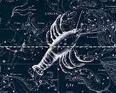 西洋星座手繪線描圖:Cancer   -   Рак.JPG