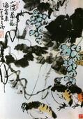 中國現代十大名家之李苦禪作品欣賞:小院葡萄邀禽来.jpg