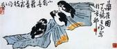 中國現代十大名家之李苦禪作品欣賞:小禽喜籍叶霜枝.jpg