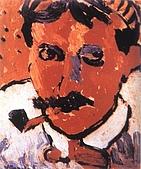 世界傳世名畫:刁着烟斗的人.jpg