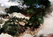 中國現代十大名家之張大千作品欣賞 :夏山云瀑.jpg