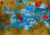 中國現代十大名家之張大千作品欣賞 :朱荷通景屏1.jpg
