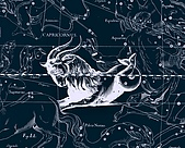 西洋星座手繪線描圖:Capricornus   -   Козерог.JPG